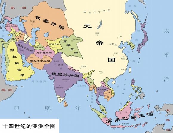 全盛时期元朝地图_元朝版图中国元朝版图 元朝最大版图7