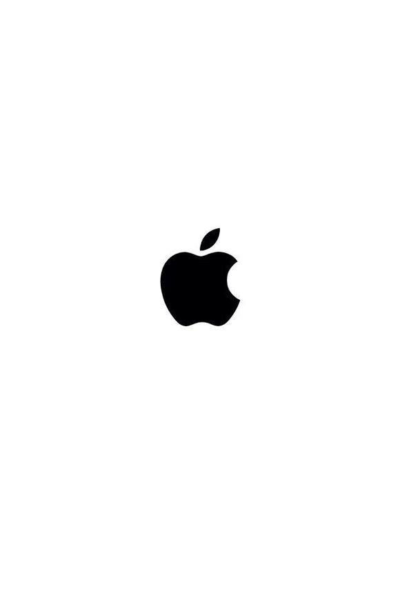 黑色苹果图标,白底 的 壁纸 开机log_ios7吧_百度贴吧