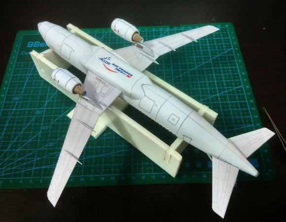 q版飞机纸模_纸模型a380飞机-空客a380私人飞机/雷霆a380飞机杯 测评/a380飞机 ...