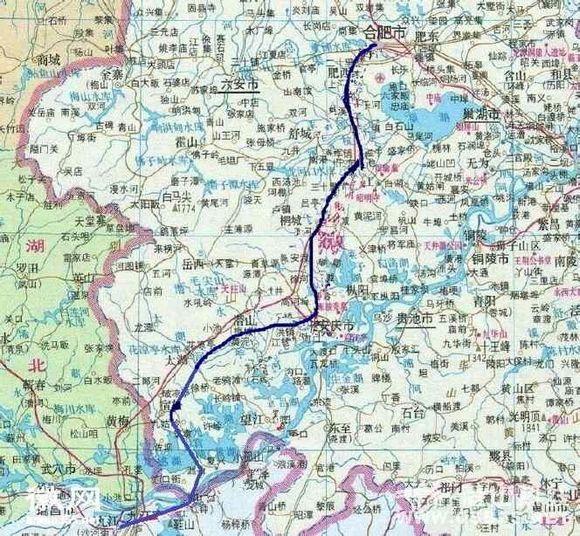 安九高铁路线_【合安九高铁路线图】未来的大京九高铁!_安徽吧_百度贴吧