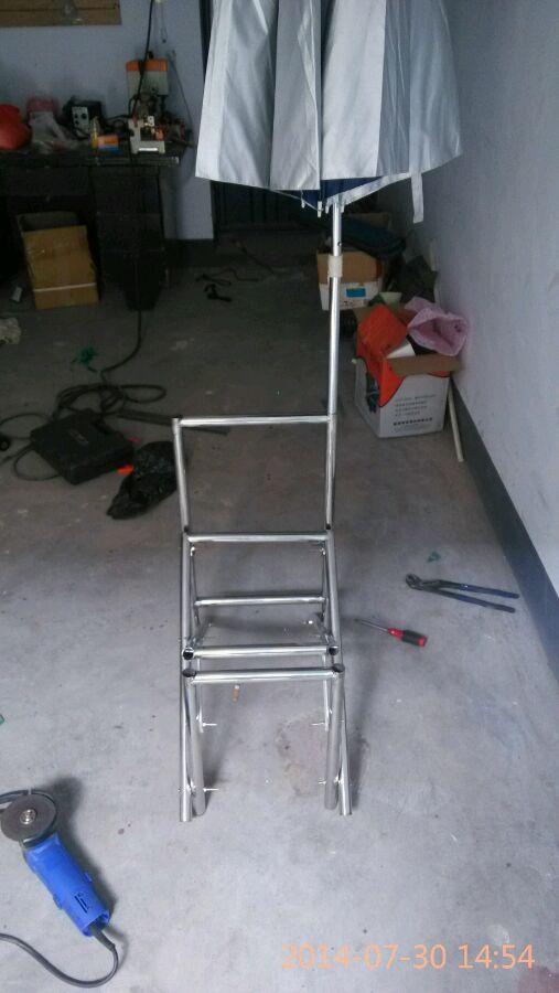 自制简单实用钓鱼凳_自制钓椅骨架以成型图片