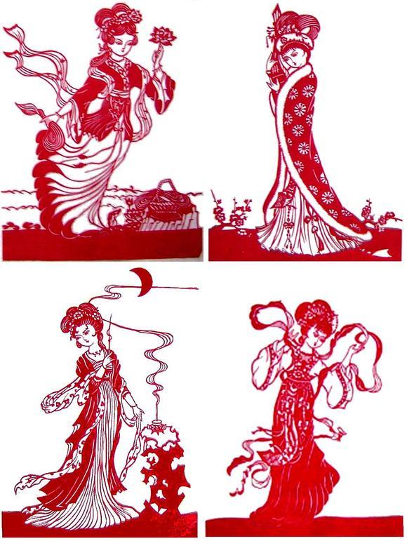 四大美女剪纸图案_【剪纸图案】古代四大美女_小花剪纸吧_百度贴吧