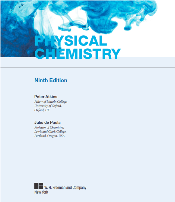 Atkins amp De Paula Physical Chemistry 9th Edition