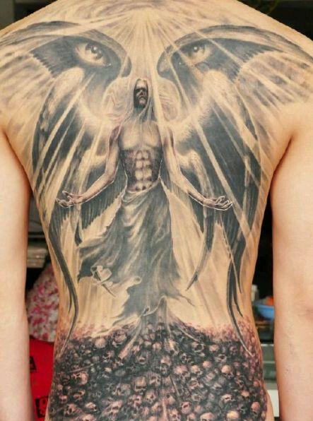 审判天使纹身_堕落天使撒旦_堕落天使撒旦画法