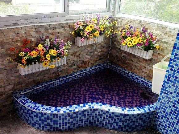 阳台小鱼池设计效果图_鱼池过滤系统设计图 鱼池设计图 鱼池水处理_龙太子供应网