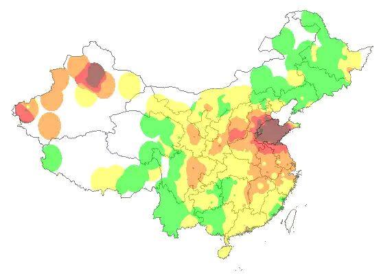 中国雾霾实时分布图_今日雾霾分布图_大中部吧_百度贴吧