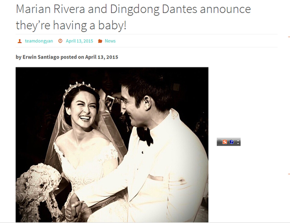 marian rivera and dingdong dantes announce they're