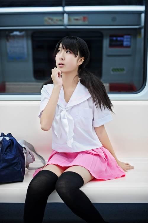 【图片】【摄影正片】地铁与少女【昆明jk?#21697;?#21543;】