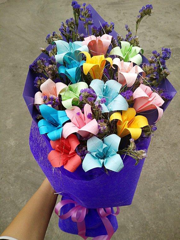 纸包花的包法_折纸花束_折纸大全简单又漂亮_50种质花折法简单图片_纸樱花_搜美网