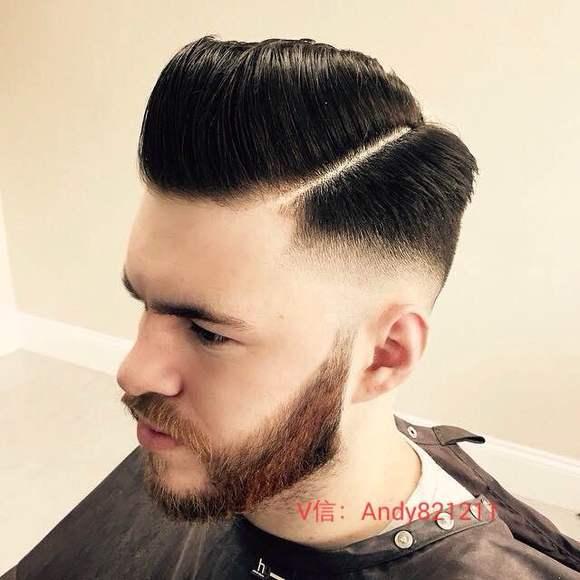欧美28分油头发型图片_由此可见男士复古油头发型现在正流行!