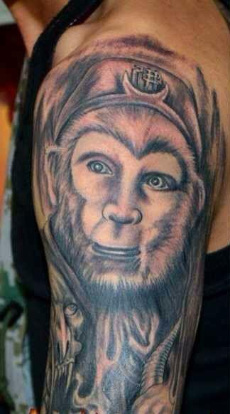 半猴半魔悟空紋身手稿分享展示圖片