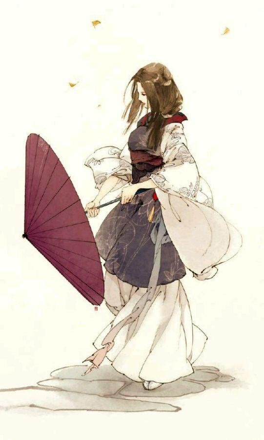 一个女人拿一把伞_古风书生拿书展示_古风书生拿书图片下载
