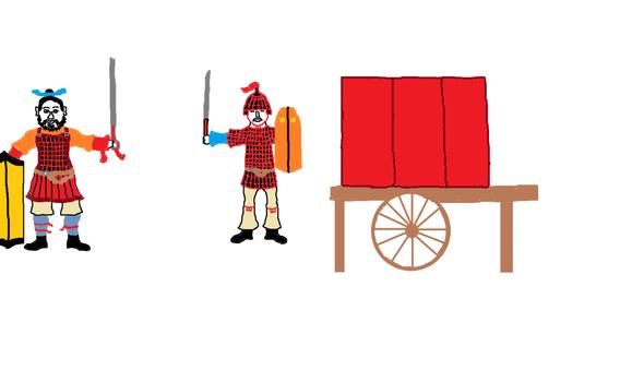 礹c.?c.?fh_两裆铠和筩袖铠是南北朝时期非常普遍的两种铠甲,在南朝和北朝的陶俑