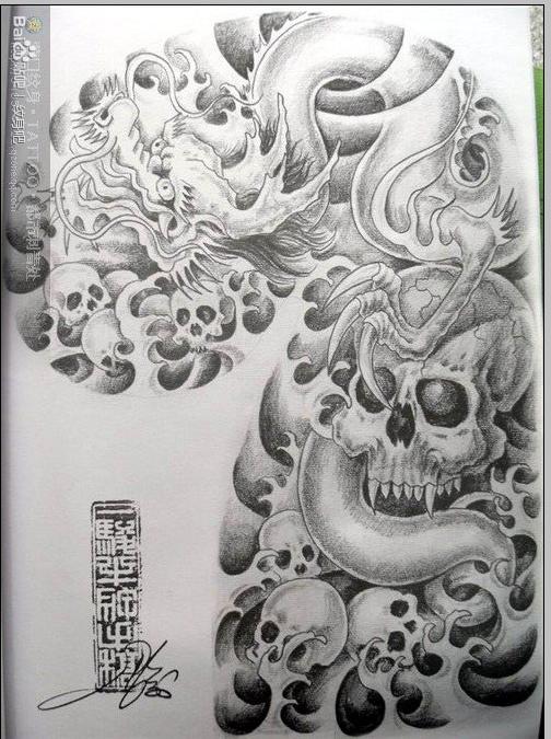 花臂紋身手稿,高夢瑤花臂紋身手圖片