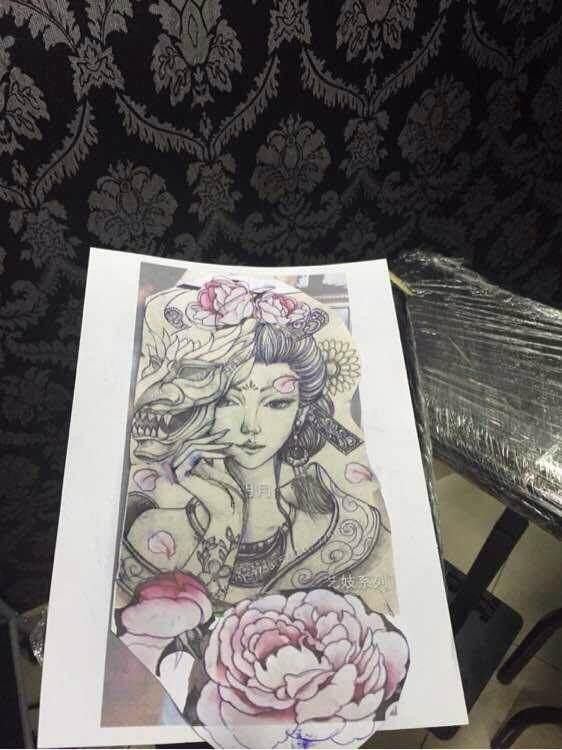 紋身圖案 藝姬花臂紋身手稿女生 > 天津傳統紋身手稿 天津傳統紋身圖片