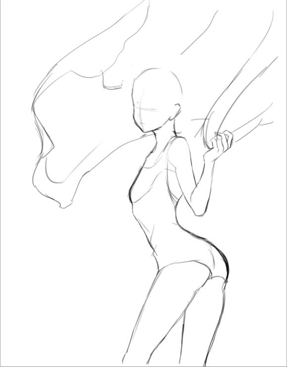 软绵绵的坑爹妹_【坑爹教材2】泳装纯妹的作画过程
