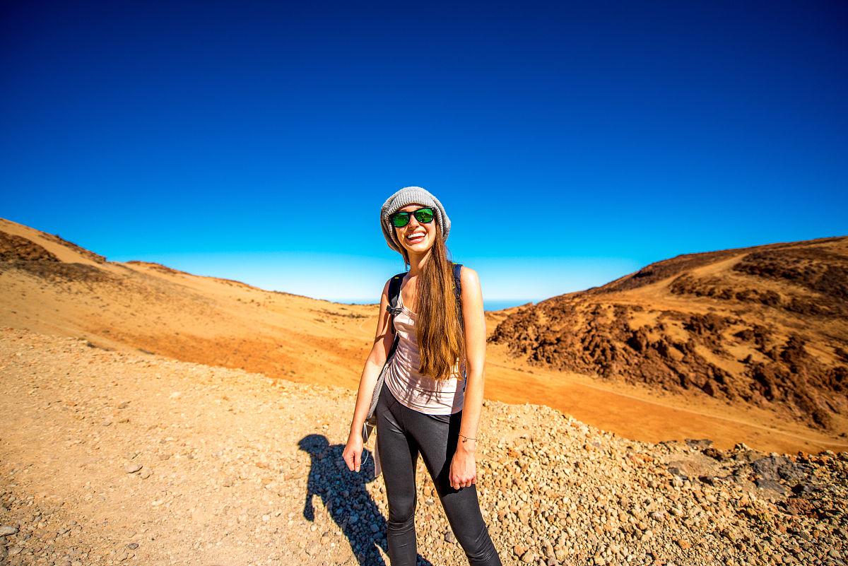 商務旅行,一個人,現代,女人,薩爾瓦多泰德國家公園,兒童,沙漠,自然圖片