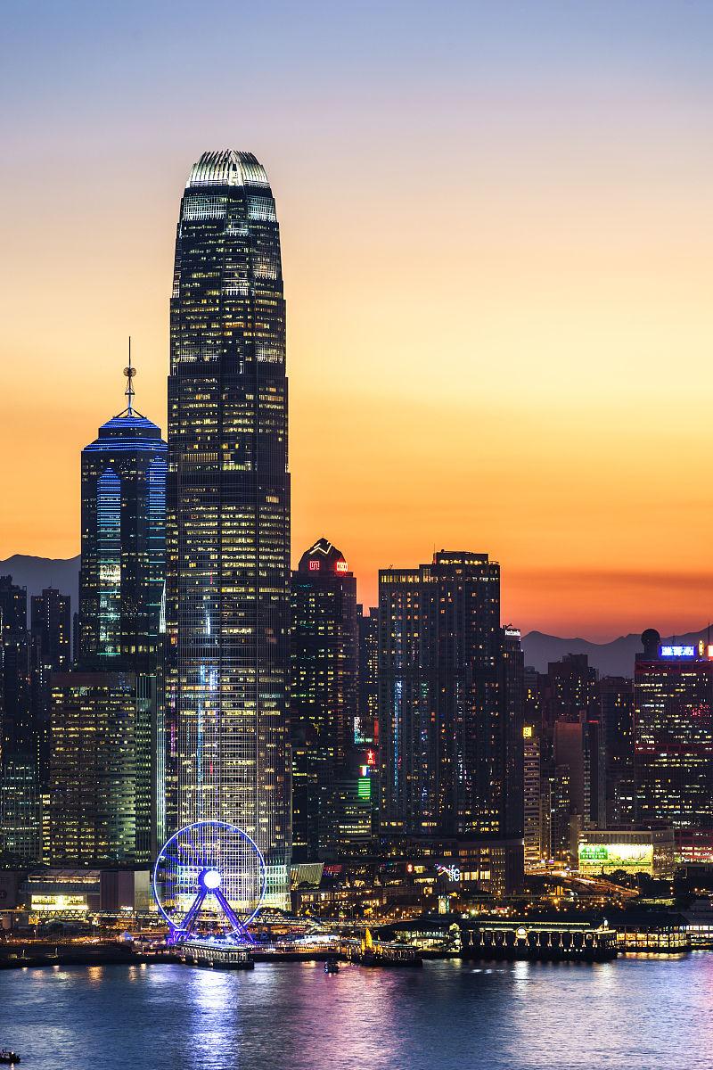 国际_国际金融中心的摩天大楼在香港