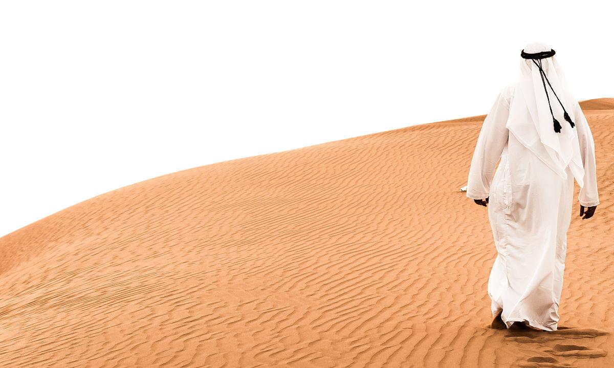 氣候,旅途,旅行的人,僅男人,黃昏,僅一個男人,波斯灣,骯臟的,沙漠圖片