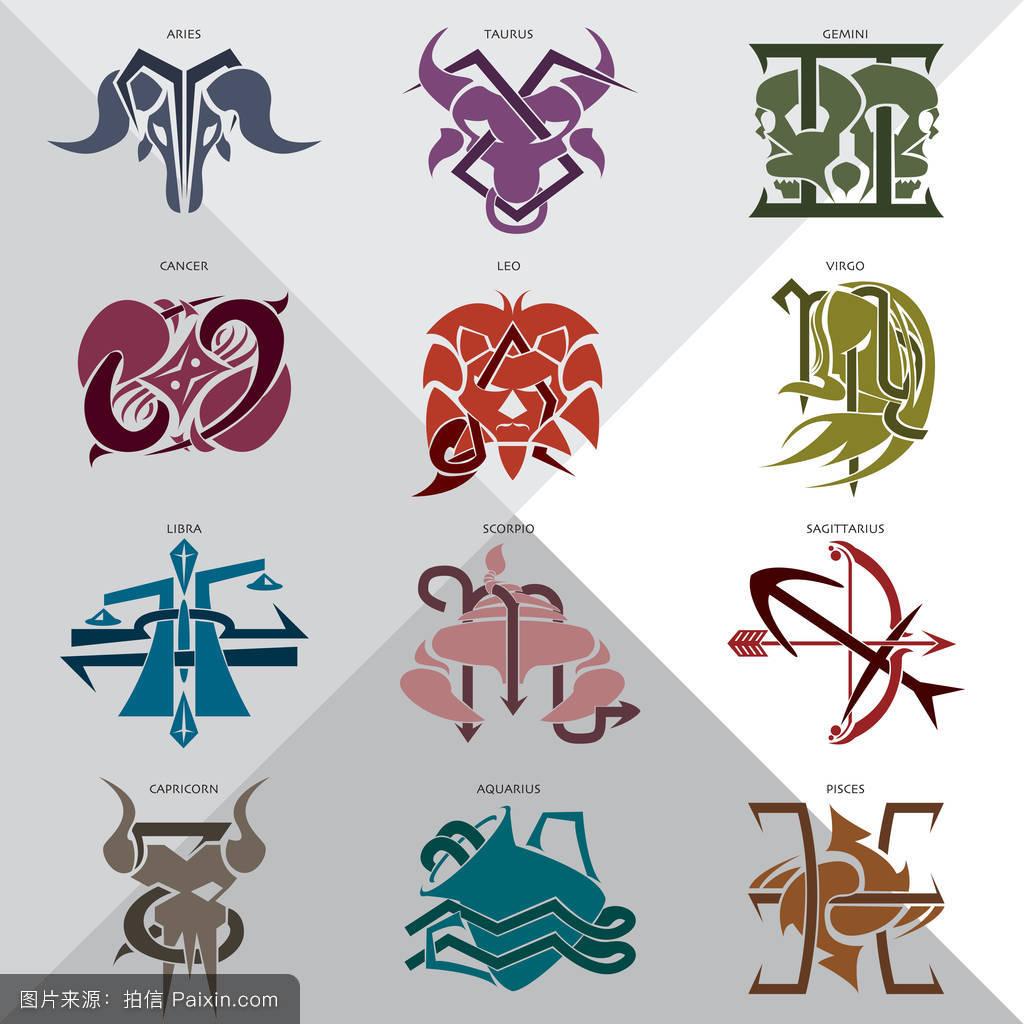 金牛座,設計,摩羯座,白羊座,天蝎座,插圖,雙魚座,生肖,偶像,星座,雙子圖片