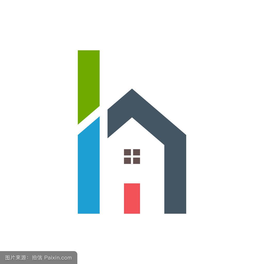 h of house logo design圖片